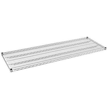 Sandusky Heavy Duty 4-Level NSF Certified Wire Shelving - Chrome (74''H x 72''W x 24''D)