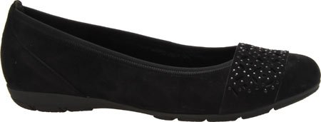 Flat Black Nubuck Ballet Leather 54 160 Gabor Women's 14nqXIwZH