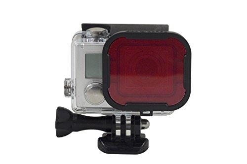 Konsit 4 in 1 GoPro Hero3+, 4 Diving Filter (Red + Gray +Yellow + Purple Filter) -GoPro Standard Housing Water Sport Accessories For Hero 3+, 4 Camera