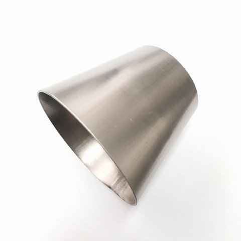 """107-07650-0000 Ticon Industries Titanium 2/"""" to 3/"""" Transition Reducer Cone 1mm//.039/"""" wall qty 1"""