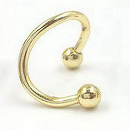 Monowi 1 PC Titanium Steel S-Shaped Nose Nail Earring Lip Nail Body Piercing Jewellery | Model ERRNGS - 18553 |