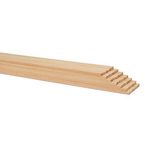 1/4 x 12 Inch Square Dowel Rods, Bag of 50 Unfinished Wooden Square Dowel Sticks. by Woodpeckers