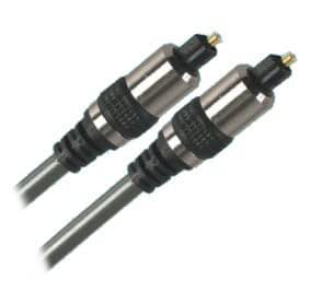 EX-Pro 1 m dorado cromado Cable óptico Digital SPDIF para conectividad con bombín de goma empuñaduras óptico