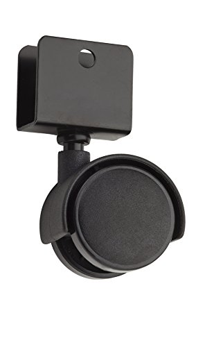 Stanley Hardware S846-354 V1757 U-Bracket Twin Wheel Casters in Black, 2 pack - Stanley Entertainment Furniture