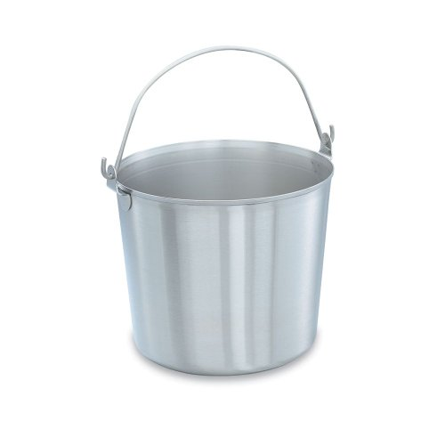 Vollrath 59120 Stainless Steel 13 Quart Handled Utility Pail by Vollrath