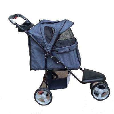 Lightweight Folding Large Wheel Pet Stroller for Small and Medium Pets, Suitable for Jogging,B