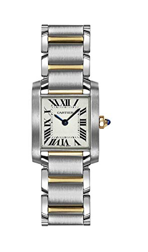 (Cartier Women's W51007Q4 Tank Francaise Stainless Steel and 18K Gold Watch)