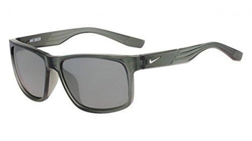 Nike Golf Cruiser Sunglasses, Mercury Grey/Silver Frame, Grey with Silver Flash Lens