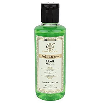 Khadi Herbal Aloevera Shampoo to Prevent Dandruff and Promote Hair Growth SLS and Paraben Free (210 ml / 7.1 fl oz) (Mild Shampoo For Daily Use In India)