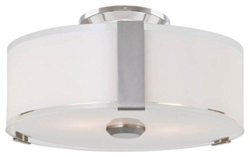 DVI DVP14532SN-SSOP Flush Mount with Silk Screened Opal Glass, 12