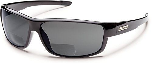 Suncloud Voucher Polarized Bi-Focal Reading Sunglasses in Black w/ Grey Lens - Voucher Sunglasses Shop