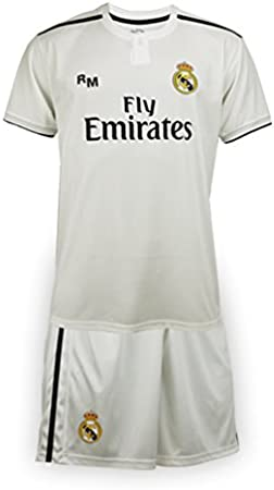 Bambini Real Madrid Mini Kit Replica Set Maglia e Pantaloncini Bambino