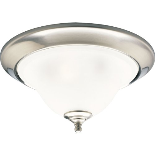 Progress Lighting P3477-09 3-Light Close-to-Ceiling Fixture, Brushed Nickel ()
