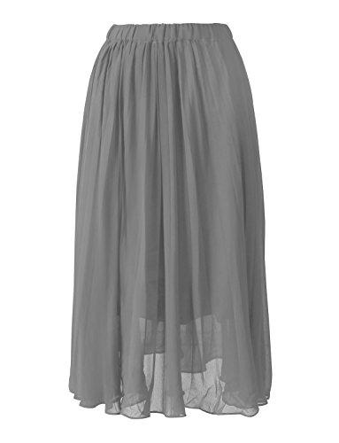 0137576c6e3 Chiffon Grau Hochzeit Strand Party Brautjungfer Röcke Damen Kleider Für  Izanoy ...