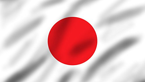 SoCal Flags Brand Japan Flag 3x5 Foot Polyester Flag Weather