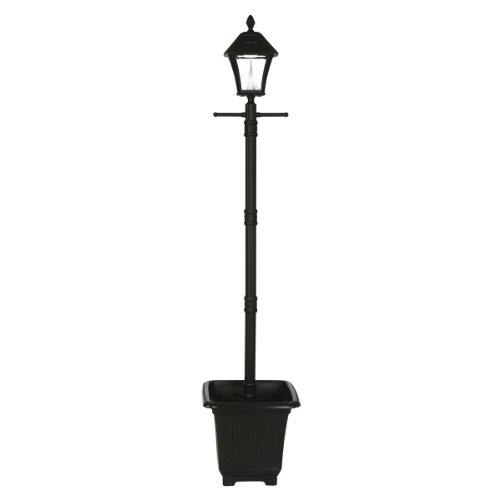 Outdoor Lamp Post With Planter in US - 6