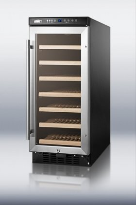 """SWC1535 15""""Wide Wine Cellar for Built-in or Freestanding use with Digital Controls and LED"""