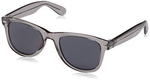 Lucky Camp Rectangular Sunglasses, Grey, 51 mm