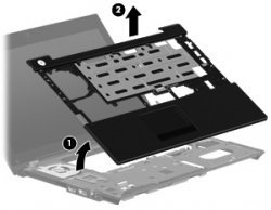HP 581105-001 Upper CPU cover (chassis top) - Includes the TouchPad button ()