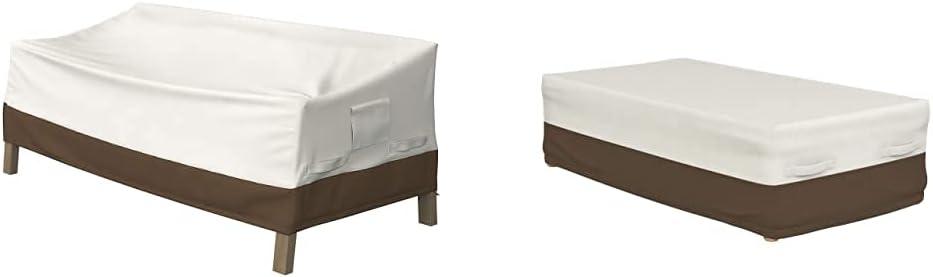 Amazon Basics 3-Seater Deep Lounge Sofa Outdoor Patio Furniture Cover & Coffee Table Patio Cover