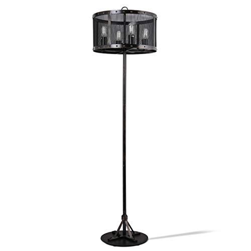 Retro Wrought Iron Metal Net Floor Lamp 4 Lights LOFT American Industrial Table Lamp Living Room Bedroom Decoration Lighting