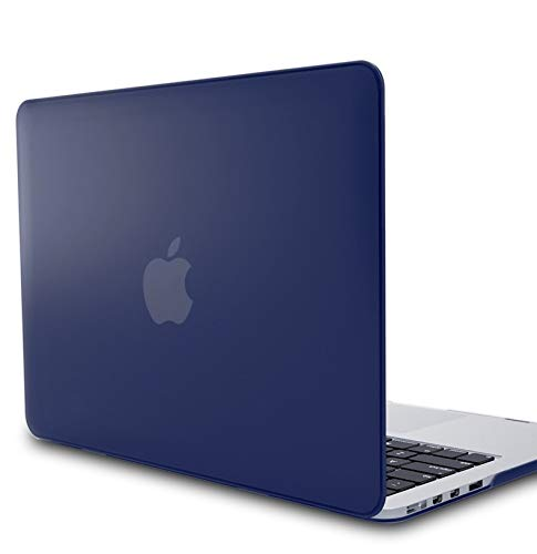 """KECC Laptop Case for MacBook Air 13"""" Retina (2019/2018) w/Keyboard Cover Plastic Hard Shell + Screen Protector A1932 3 in 1 Bundle (Navy Blue)"""