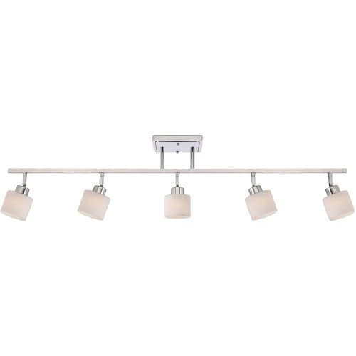 Quoizel PF1405C Pacifica Adjustable Track Lighting Kit, 5-Light, 300 Watts, Polished Chrome (11