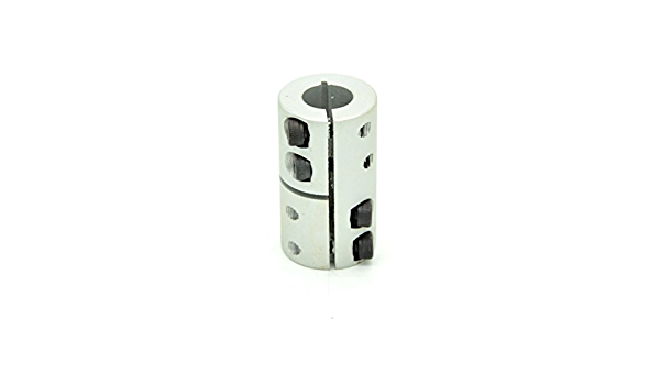 Details about  /8mm to 10mm Bore Rigid Coupling 25mm Length 20mm Diameter Coupler Silver 4pcs