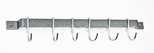 "Rogar 18"" Bar Rack: Hammered Steel and Chrome"