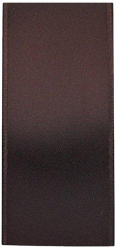 The Gift Wrap Company 7/8-Inch Luxury Satin Ribbon, Chocolate (16039-51)