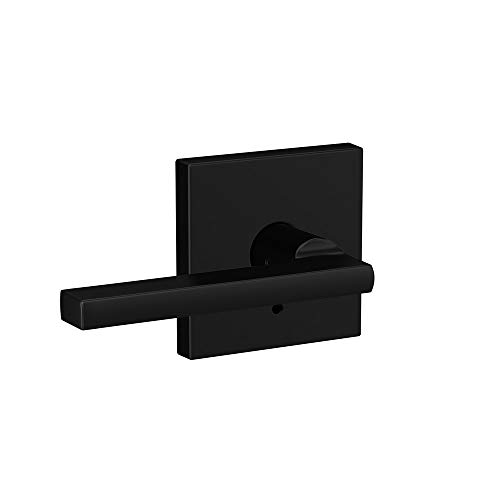 Schlage Custom FC21 LAT 622 COL Latitude Lever with Collins Trim Hall-Closet and Bed-Bath Lock, Matte Black