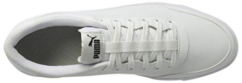 Puma Unisex-erwachsene Court Breaker L Mono Sneaker Weiß (bianco-bianco)