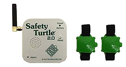 New Safety Turtle 2.0 Pet Immersion Pool/Water Alarm Kit - 2 Petbands by Safety Turtle
