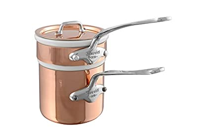 Mauviel M'heritage M'150s Copper & Stainless Steel Bain Marie, 0.9 Quart