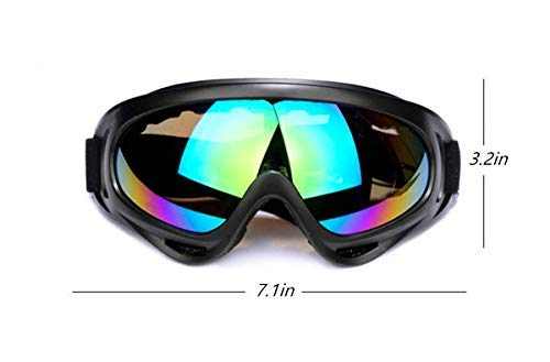 Dplus Motorcycle Goggles - Glasses Set of 5 - Dirt Bike ATV Motocross Anti-UV Adjustable Riding Offroad Protective Combat Tactical Military Goggles for Men Women Kids Youth Adult by Dplus (Image #2)