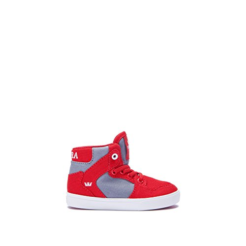 Supra Kids Baby Boy's Vaider (Toddler) Red/Dark Grey/White 9 Toddler (Infant Supra)