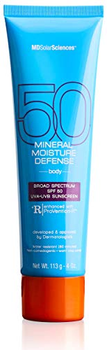 MDSolarSciences Mineral Moisture Defense SPF 50 | Safe + Natural Oil-Free Formula Locks in Moisture and Protects Skin with Active Zinc Oxide | 4.0 Oz