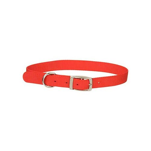 Dogit Nylon Single Ply Dog Collar with Buckle, X-Large, 20-Inch, Red (Single Ply Dog Collar)