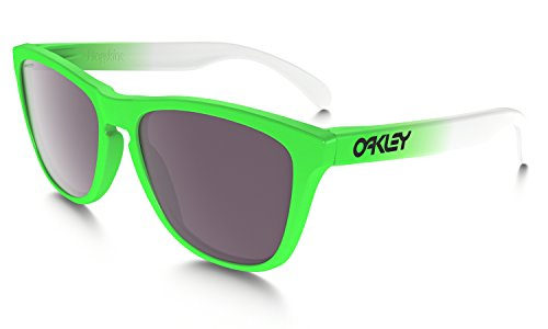 Oakley Unisex (A) Frogskins Green Fade/Prizm Daily Polarized - Sunglasses Frog