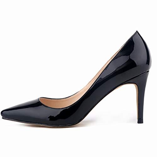 B FLYRCX Simple et à la Mode Bouche Peu Profonde Sexy Talons Aiguille Talons élégants élégantes Chaussures Simples Dames Chaussures de Mariage Chaussures de Travail 35 EU