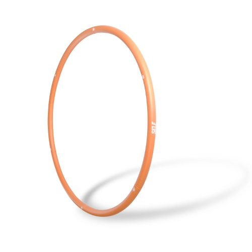 SELF Weighted Fitness Hoop, 3-Pound, Orange