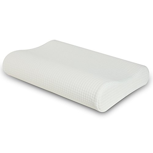 WeNerya Memory Foam Contour Pillow for Sleeping, Ergonomic Neck and Cervical Support Pillow for Back and Side Sleepers, Standard (Ergonomic Neck)