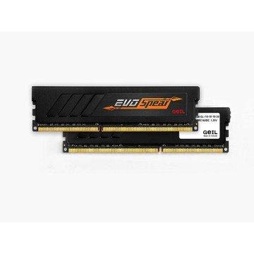 Evo Desktop Memory (GeIL 16GB (2 x 8GB) EVO SPEAR DDR4 PC4-19200 2400MHz 288-Pin Desktop Memory Model GSB416GB2400C16DC)