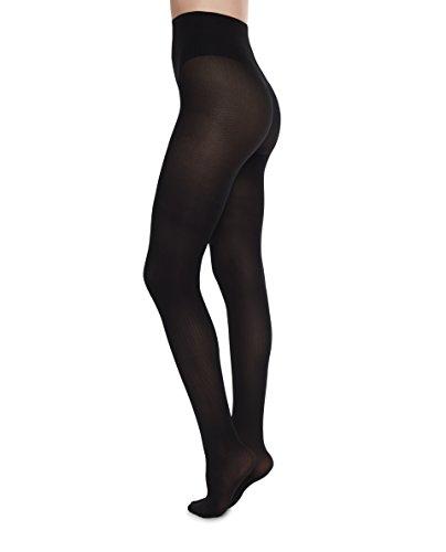 (Swedish Stockings NINA Fishbone Black Nylons 40 Den Stockings Luxury Patterned Pantyhose)