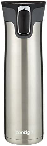 Contigo AUTOSEAL West Loop 1.1 Vaccuum-Insulated Stainless Steel Travel Mug, 24 oz, Stainless Steel