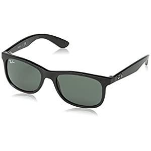 Ray-Ban Unisex-Child Injected Unisex Sunglass 0RJ9062S Wayfarer Sunglasses, Matte black, 48 mm