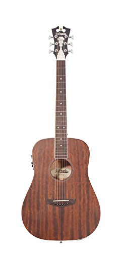 D'Angelico Premier Niagra Acoustic-Electric Guitar – Natural Mahogany