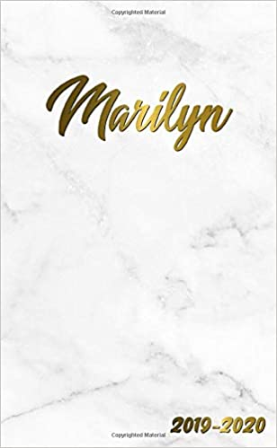 Marilyn 2019-2020: Pretty Personal Marble & Gold Two-Year ...