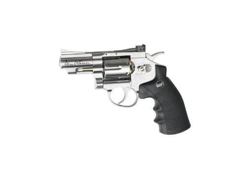 asg dan wesson 2.5 co2 powered air revolver, silver(Airsoft Gun) (Rubber Bullets For Airsoft Gun)