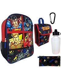 - Justice League 5-Piece Backpack Set
